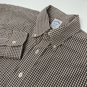 Slim Fit Brooks Brothers Logo Front Plaid Shirt
